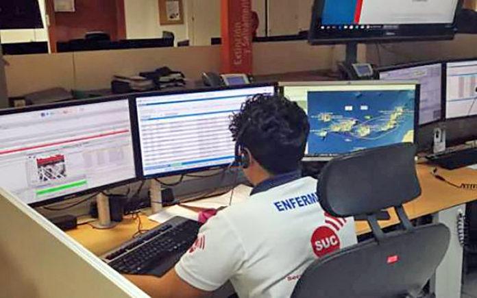 Sala Operativa del Servicio de Urgencias Canario 1-1-2. Cedida. NOTICIAS 8 ISLAS.