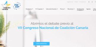 Web de Coalición Canaria. Cedida. NOTICIAS 8 ISLAS.