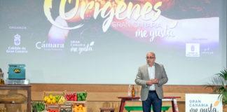 El presidente del Cabildo de Gran Canaria en la apertura de 'Orígenes'. Cedida. NOTICIAS 8 ISLAS.