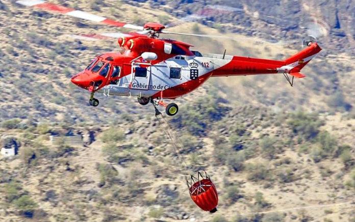 Helicóptero del GES. Cedida. NOTICIAS 8 ISLAS.