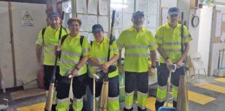 Nuevos operarios del servicio de limpieza municipal. Cedida. NOTICIAS 8 ISLAS.