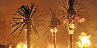 Imagen de los incendios de Tasarte y el Bentayga./ Cedida.