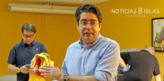 Rueda de prensa ofrecida por Pedro Martin, presidente del Cabildo de Tenerife. Manuel Expósito. NOTICIAS 8 ISLAS.