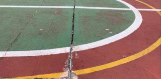 Detalle de las instalaciones del Polideportivo de Playa San Juan. Cedida. NOTICIAS 8 ISLAS.