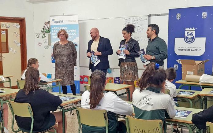 Presentación del concurso en el CEIP San Antonio. Cedida. NOTICIAS 8 ISLAS.