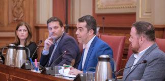 Comisión de Control celebrada esta mañana que el Ayuntamiento de Santa Cruz. Cedida. NOTICIAS 8 ISLAS.