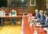 Reunión de Yaiza Castilla con los representantes de la distribución comercial y de los supermercados de las islas. Cedida. NOTICIAS 8 ISLAS.