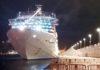 El crucero Costa Luminosa atracado en el puerto tinerfeño esta tarde./ Cedida.