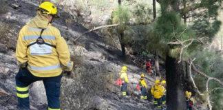 Incendio forestal en Tasarte. Cedida. NOTICIAS 8 ISLAS.