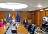 Un momento del Consejo de Gobierno siguiendo la intervención del Presidente del Gobierno./ Cedida.