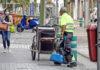 Servicio de limpieza, Santa Cruz de Tenerife, hoy 20 de marzo./ Trino Garriga. NOTICIAS 8 ISLAS.