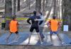 Transvulcania, año 2011. Fisioterapeuta asistiendo a participantes en el Refugio del Pilar. La Palma.