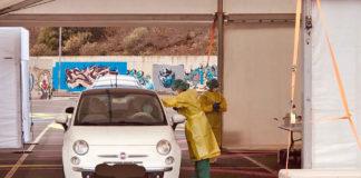 Toma de muestras para Covid-19 realizadas por el personal de Primaria de Tenerife. Cedida. NOTICIAS 8 ISLAS.