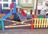 Precintado de parques infantiles en el municipio de S/C. de Tenerife. Cedida. NOTICIAS 8 ISLAS.