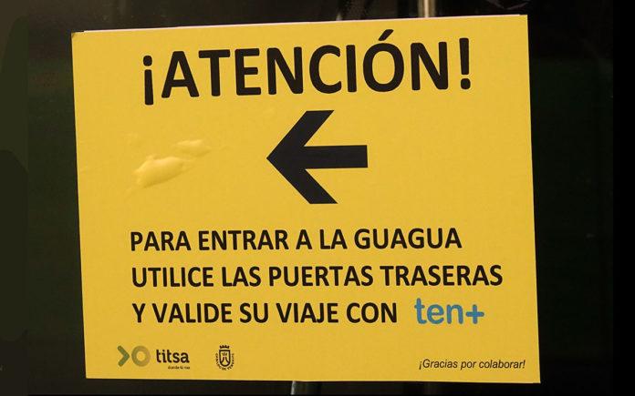 Acceso a guaguas, Tenerife. Trino Garriga. NOTICIAS 8 ISLAS.