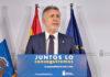 Rueda de prensa ofrecida hoy 3 de mayo por el presidente Torres. EFE/ Quique Curbelo