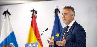 Rueda de prensa de Ángel Víctor Torres, presidente de Canarias. Cedida. NOTICIAS 8 ISLAS.