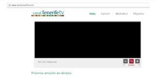 Pantalla en negro del Canal Tenerife TV. NOTICIAS 8 ISLAS.