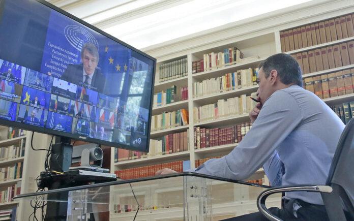 Pedro Sánchez, presidente del Gobierno, participa en el Consejo Europeo de ayer viernes./ Cedida.