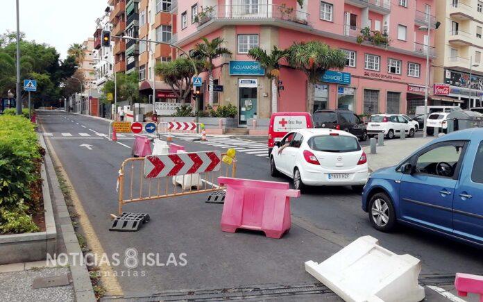 Obras, Avenida Asuncionistas. Trino Garriga. NOTICIAS 8 ISLAS.
