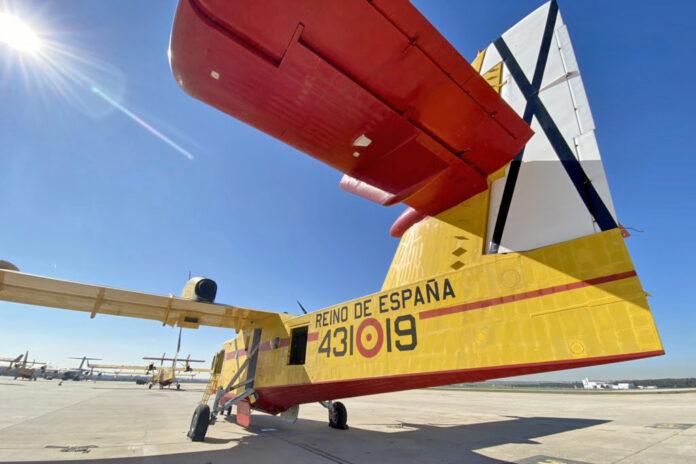 Apagafuegos, avión de lucha contra incendios. Cedida. NOTICIAS 8 ISLAS.