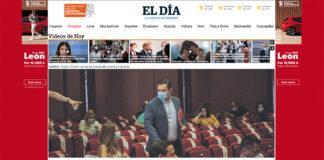 Portada web (CP) del periódico El Día de hoy 8 de junio./ noticias8islas.