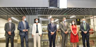 Llegada de la ministra de Industria, Comercio y Turismo, Reyes Maroto, y al secretario general de la Organización Mundial de Turismo (OMT), Zurab Pololikashvili. Cedida. NOTICIAS 8 ISLAS.
