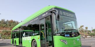 Nueva guagua híbrida para la flota de transporte urbano./ ©Manuel Expósito.