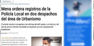 Captura de pantalla de la edición de hoy de la web de el periódico El Día.