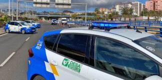 Control policial en Santa Cruz de Tenerife. Twitter, Policia Local.