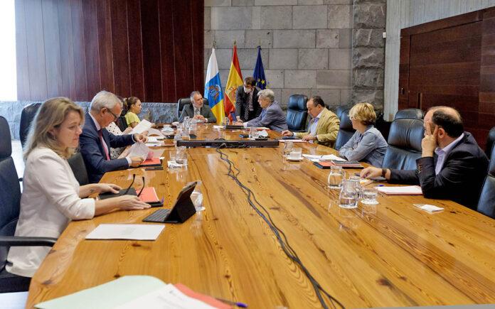 Reunión de hoy del Consejo de Gobierno. Cedida. NOTICIAS 8 ISLAS.