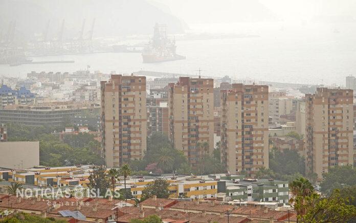 Calima en Santa Cruz de Tenerife a las 10:00 h./ ©Manuel Expósito.