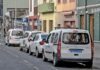 Parada de taxis en La Laguna durante el coronavirus./ Cedida.