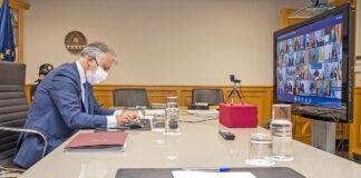 Ángel Víctor Torres participa en una nueva conferencia de presidentes autonómicos./ Cedida.