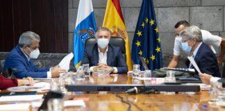 Reunión hoy del Consejo de Gobierno de Canarias./ Cedida.