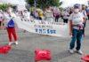 Protesta de usuarios y trabajadores de Ansina ante el Cabildo./ Cedida.
