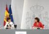 Un momento de la rueda de prensa posterior al Consejo de Ministros./ Pool Moncloa. José María Cuadrado.