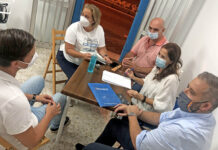 Reunión del Grupo Municipal Popular./ Cedida.