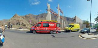 Unidades de rescate en el lugar del accidente./ Policía Local de S/C. de Tenerife.