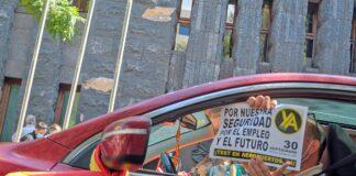 Caravana de vehículos organizada por el CEST el pasado 30 de septiembre./ Cedida.