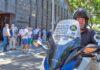 Un instante de la primera concentración en Presidencia del Gobierno canario./ facebook.