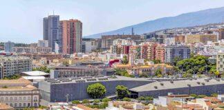 Vista parcial de Santa Cruz de Tenerife.