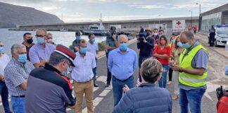 Reunión operativa en el Puerto de Vueltas./ Ayuntamiento de Valle Gran Rey.
