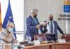 Un instante de la reunión del Pleno del Consejo Económico y Social./ Cedida.