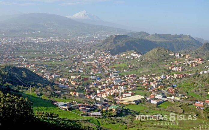 San Cristóbal de La Laguna vista desde el Mirador de Jardina./ ©Manuel Expósito.