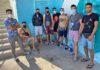 Migrantes en locales municipales de Las Alcaravaneras./ Cedida.