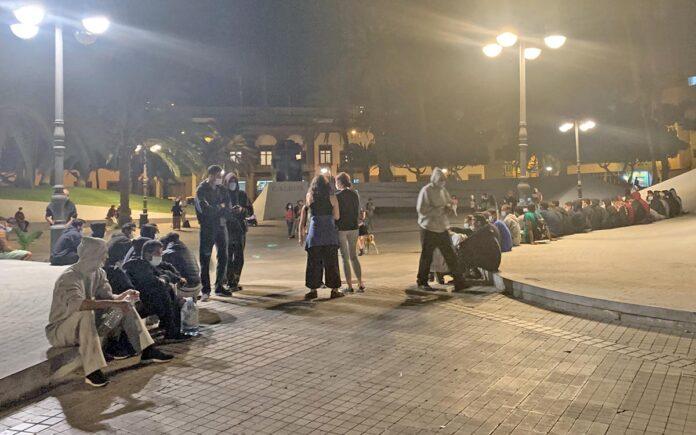 Migrantes en Las Palmas de Gran Canaria./ Twitter @PPLPGC.