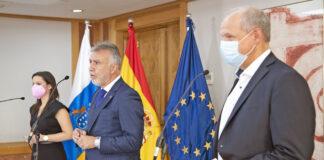 Rueda de prensa del Gobierno de Canarias con el CEO de TUI./ Cedida.