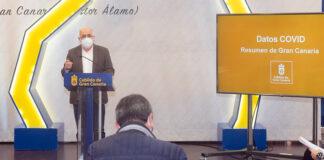Rueda de prensa ofrecida por el presidente Antonio Morales./ Cedida.