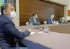 Un momento de la reunión en Presidencia del Gobierno./ Cedida.